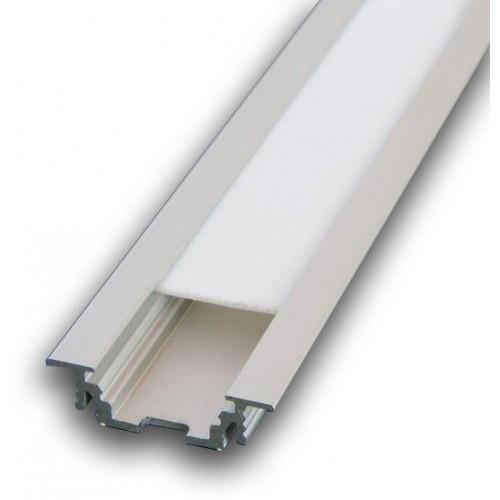 Hliníkový profil GROOVE zápustný 2m pro LED pásky, ALU lišta