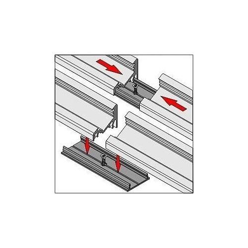Spojovací díl pro hliníkové profily SURFACE GROOVE CORNER
