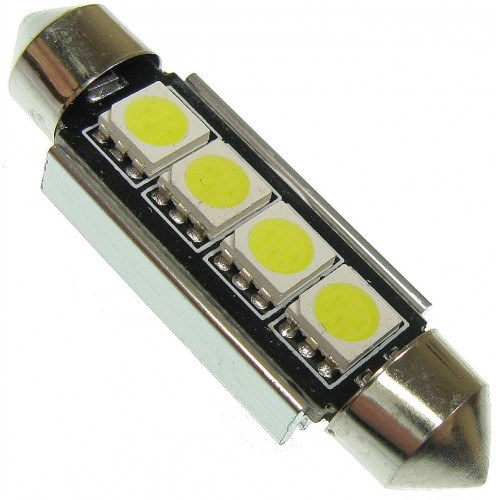 LED auto žárovka LED C5W 4 SMD 5050 CAN BUS 42mm