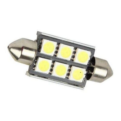 LED auto žárovka LED C5W 6 SMD 5050 CAN BUS 39mm