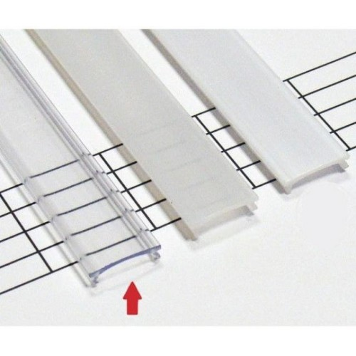 Transparentní difuzor HIGH KLIK pro profily LUMINES A/C/D/Y 2m