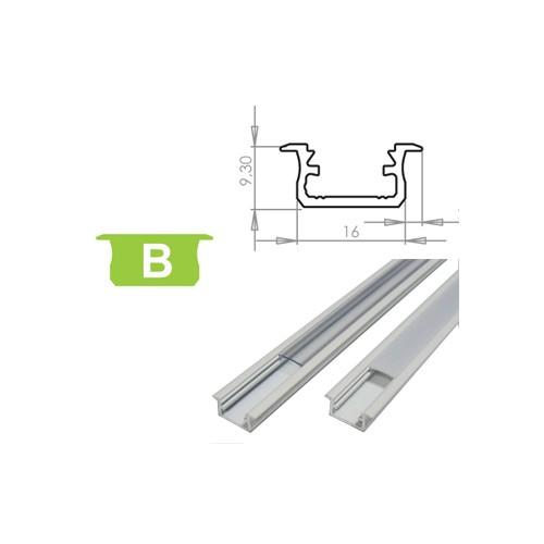Hliníkový profil LUMINES B zápustný 2m pro LED pásky, bílý lakovaný