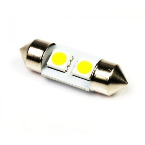 LED auto žárovka LED C5W 2 SMD 5050 TEPLÁ 36mm