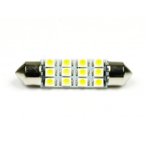 LED auto žárovka LED C5W 12 SMD 1210 39mm