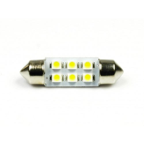 LED auto žárovka LED C5W 6 SMD 1210 31mm