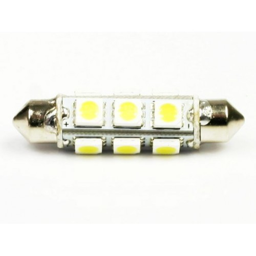 LED auto žárovka LED C5W 12 SMD 5050 360° 44mm