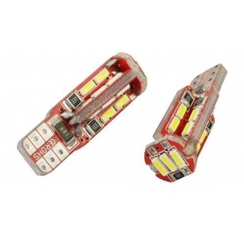 LED auto žárovka LED W5W T10 19 SMD 4014 CAN BUS