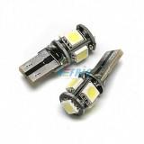 LED auto žárovka LED T10 W5W 5 SMD 5050 CAN BUS