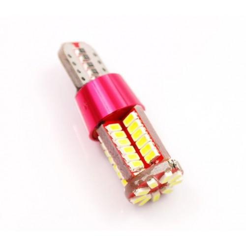 LED auto žárovka LED W5W T10 57 SMD 3014 CAN BUS fialová
