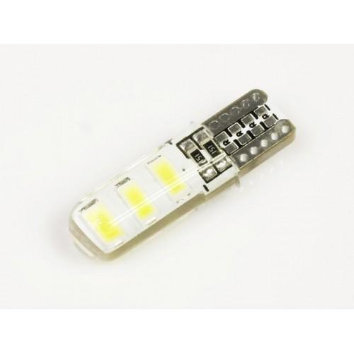 LED auto žárovka LED W5W T10 6 SMD 5630 silikon
