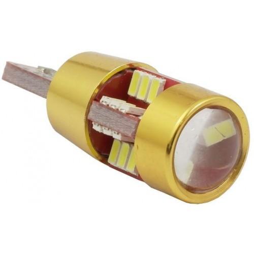 LED auto žárovka LED T10 W5W 27 SMD 3014 s čočkou CAN BUS