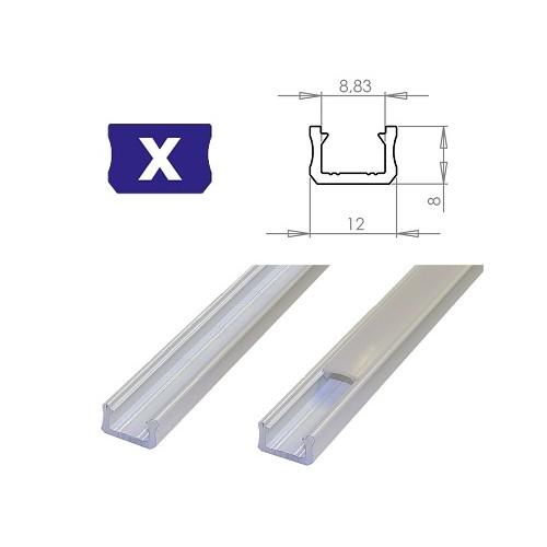 Hliníkový profil LUMINES X 2m pro LED pásky, bílý
