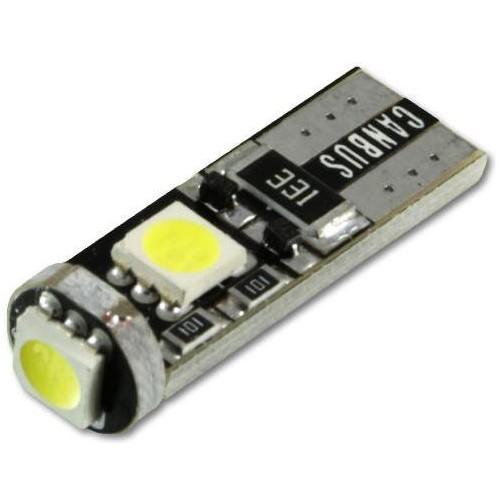LED auto žárovka LED T10 W5W 3 SMD 5050 CAN BUS