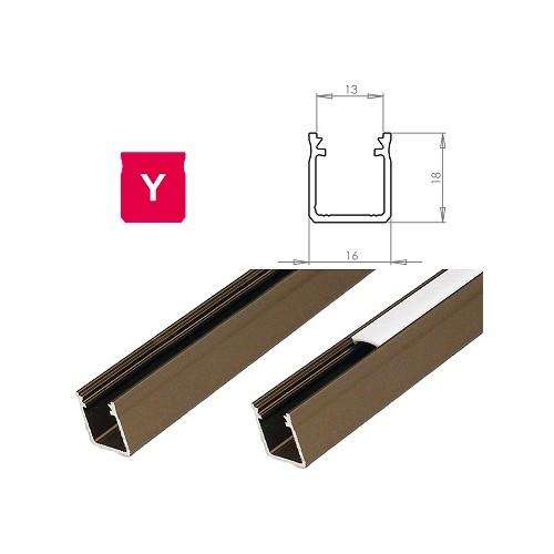Hliníkový profil LUMINES Y 1m pro LED pásky, inox