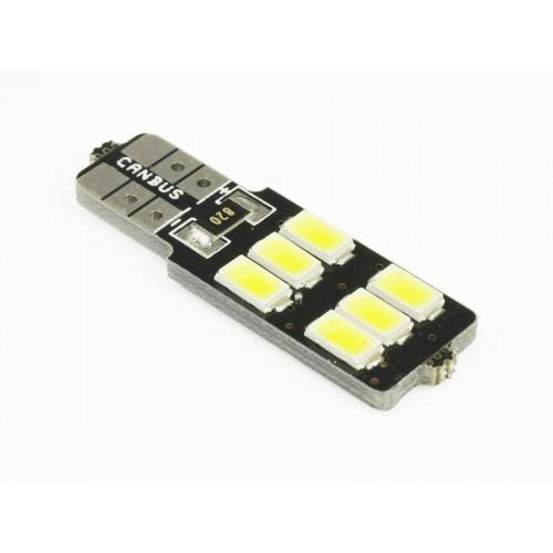 LED auto žárovka LED W5W T10 6 SMD 5630 CAN BUS jednostranná