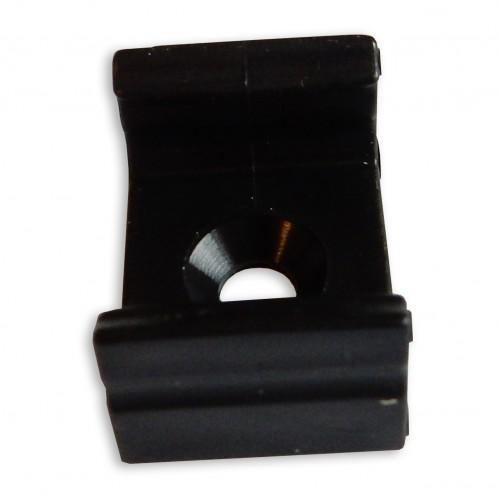 Montážní úchyt plastový pro profil LUMINES D, černý