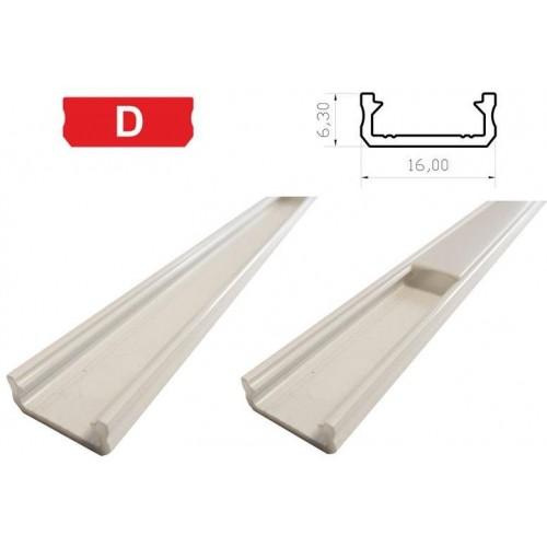 Hliníkový profil LUMINES D 1m pro LED pásky, bílý lakovaný