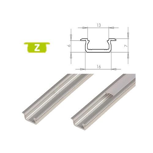 Hliníkový profil LUMINES Z zápustný 1m pro LED pásky, hliník