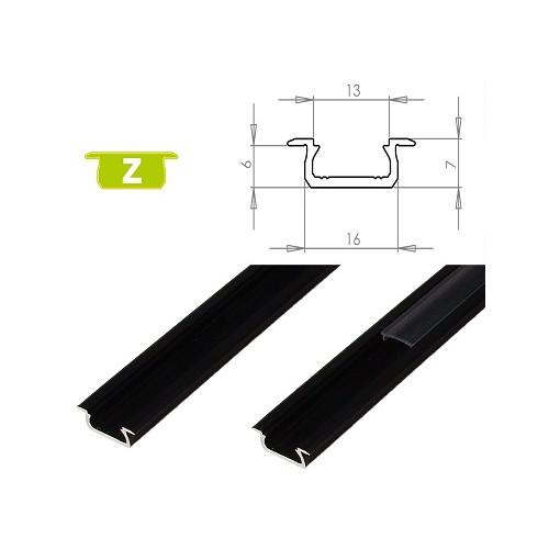 Hliníkový profil LUMINES Z zápustný 1m pro LED pásky, černý
