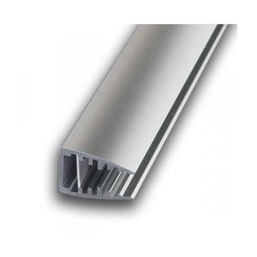 Hliníkový profil LED MIKRO pro skleněné police 6mm 1m pro LED pásky, anodovaný