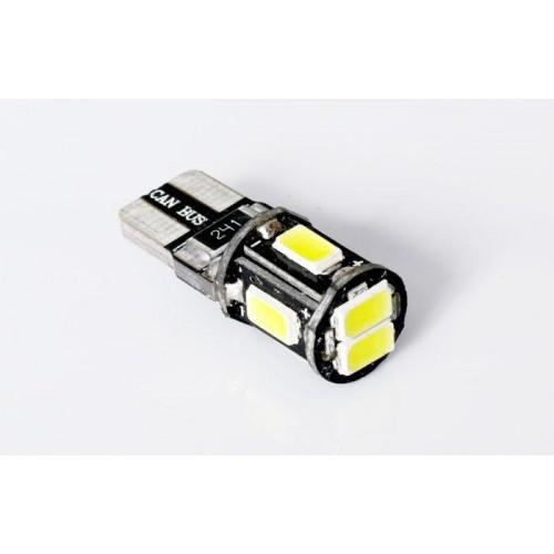 LED auto žárovka LED W5W T10 6 SMD 5630 CAN BUS