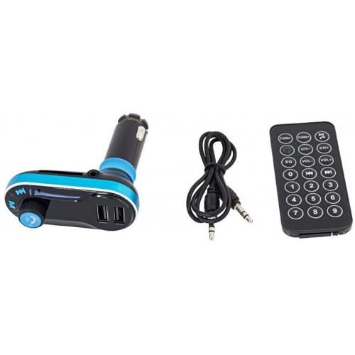 FM/MP3 BLUETOOTH transmiter do auta se 2 USB sloty a ovladačem