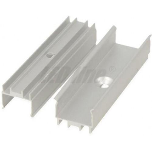 Montážní ALU úchyt pro vodotěsné LED pásky š.12mm