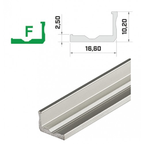Hliníkový profil LUMINES F 0/90°  2m pro LED pásky, stříbrný