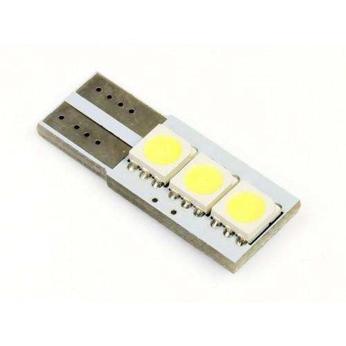 LED auto žárovka LED W5W T10 3 SMD 5050