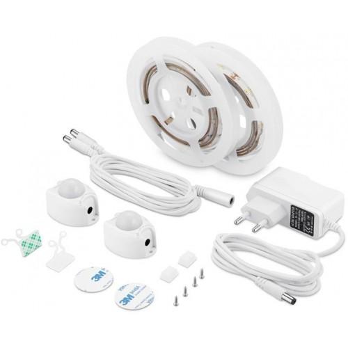 LED nábytkové ( pod postel ) STMÍVATELNÉ osvětlení s pohybovým senzorem 2x1,2m 3W TEPLÁ