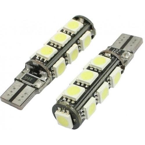 LED auto žárovka LED T10 W5W 13 SMD 5050 CAN BUS