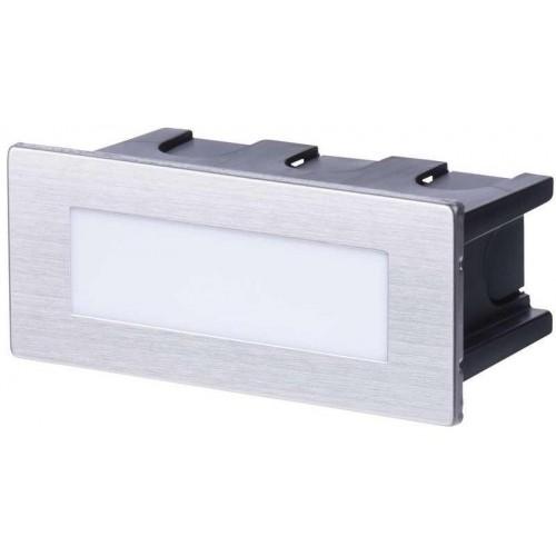 LED orientační vestavné svítidlo 123×53, 1,5W tep. bílá IP65