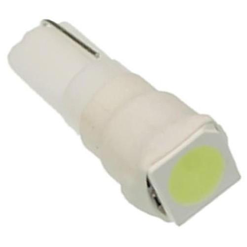 LED auto žárovka LED W2W W1,2W T5 R5 1 SMD 5050 teplá bílá