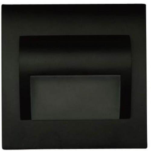 LED nástěnné schodišťové svítidlo BERYL černé 1,5W 9xSMD3014 12V DC teplá bílá