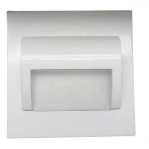 LED nástěnné schodišťové svítidlo BERYL bílé 1,5W 9xSMD3014 12V DC teplá bílá