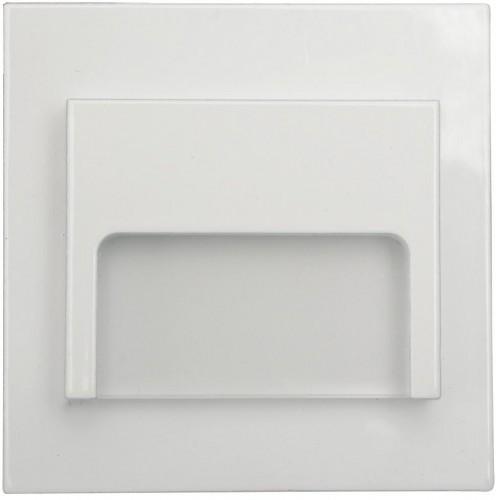 LED nástěnné schodišťové svítidlo ONTARIO bílé 1,5W 9xSMD3014 12V DC teplá bílá