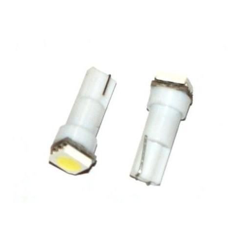 LED auto žárovka LED W2W W1,2W T5 R5 1 SMD 5050 bílá