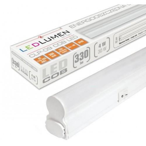 Lineární LED svítidlo CLP-09 30cm 4W batten TEPLÁ BÍLÁ