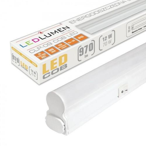 Lineární LED svítidlo CLP-09 90cm 12W batten TEPLÁ BÍLÁ
