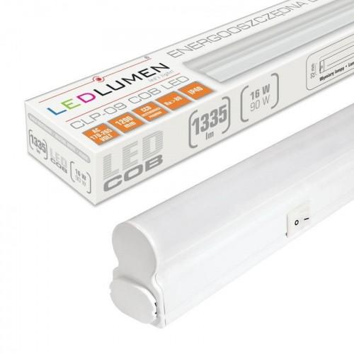 Lineární LED svítidlo CLP-09 120cm 16W batten NEUTRÁLNÍ BÍLÁ