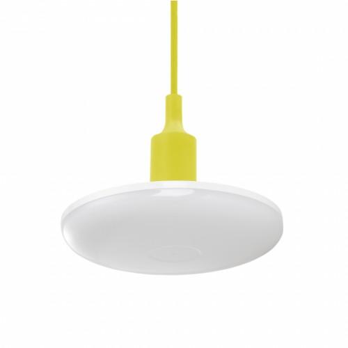 LED závěsné svítidlo ALBENE ECO 24W, ŽLUTÝ ZÁVĚS, TEPLÁ BÍLÁ