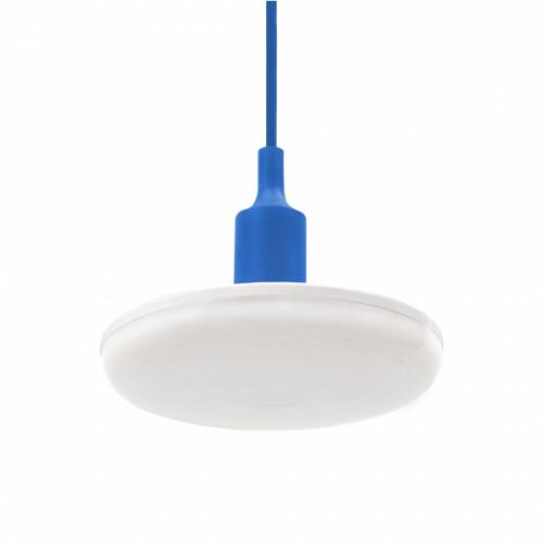 LED závěsné svítidlo ALBENE ECO 24W, MODRÝ ZÁVĚS, TEPLÁ BÍLÁ