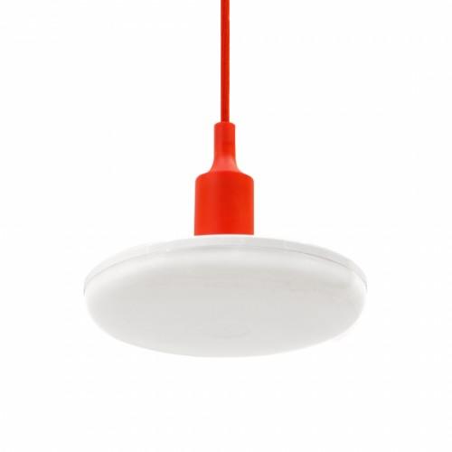 LED závěsné svítidlo ALBENE ECO 18W, ČERVENÝ ZÁVĚS, TEPLÁ BÍLÁ
