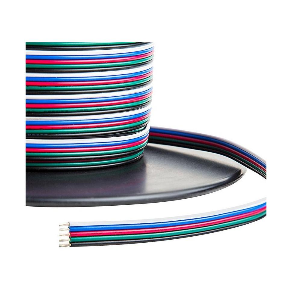 Kabel pro LED pásek RGBW plochá pětilinka 5x0,5mm