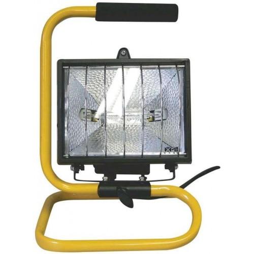 Halogenový reflektor 500W bez PIR senzoru černý s držákem