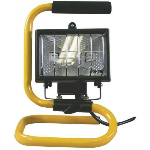 Halogenový reflektor 150W bez PIR senzoru černý s držákem