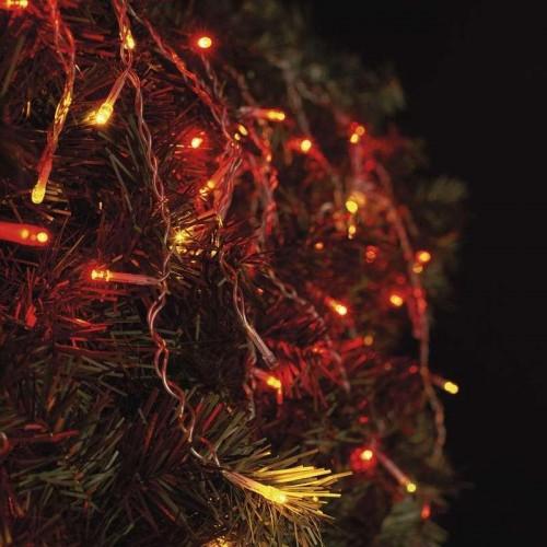 Spojovací řetěz pulzující – krápníky, 2,5m, červ./jantar.