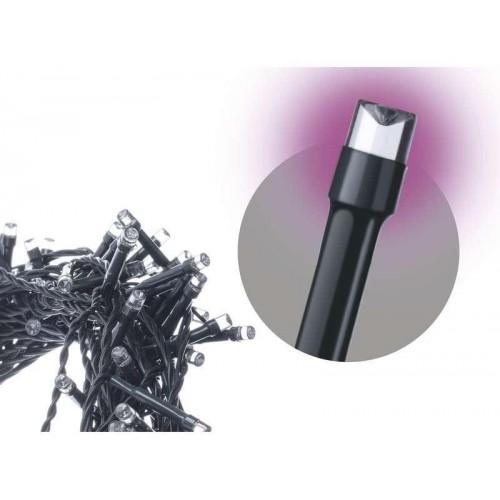 Spojovací LED řetěz, 10m, růžová