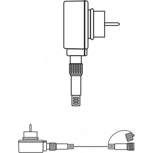 Napájecí zdroj pro Profi spojovací LED řetěz bílý, 5m, čas.