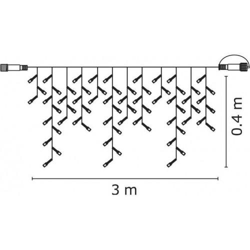 Profi LED spojovací řetěz bílý – krápníky, 3m, teplá bílá